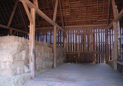 First mow awaiting hay bales