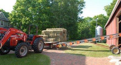 unloading a wagon