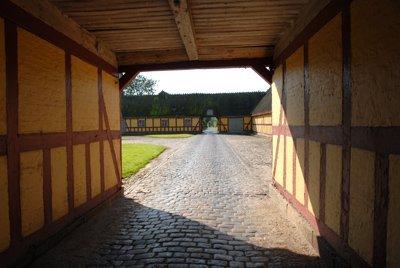 The inner court yard at Kraengerup