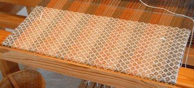 shawl on the loom