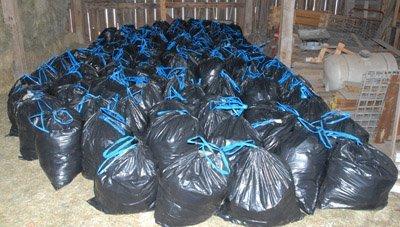 Bags full of fleeces