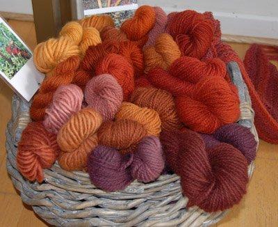 Kirsten's mushroom dyed yarn