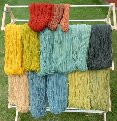 Gretchen's natural dyed yarn