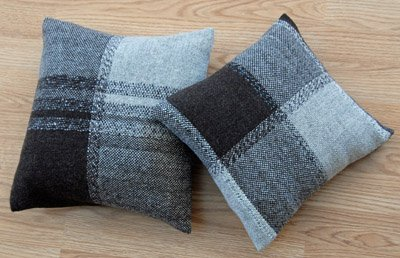 Pillows with hand-dyed yarns