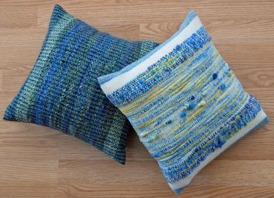 More pillows with hand-dyed yarns