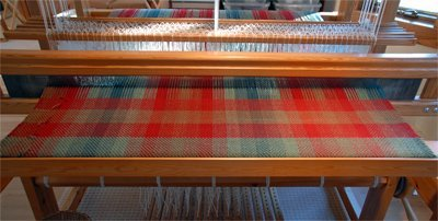 Double weave project on the loom