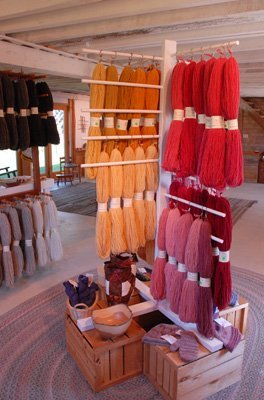 naturally dyed yarn in the gallery
