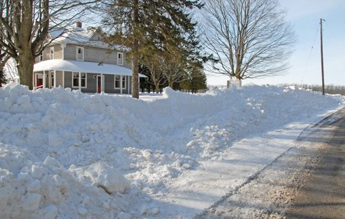 snow drifts jan 14