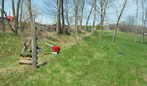 Fence line repaired