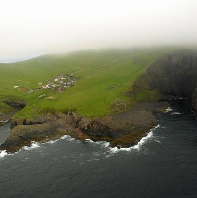 Mykines from Helicopter