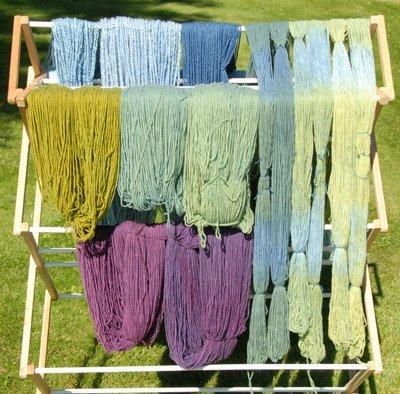 indigo overdyed yarn
