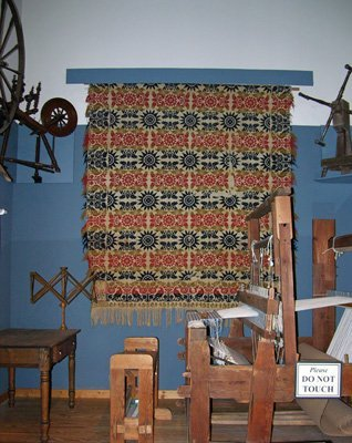 Coverlet, Looms and Wheels