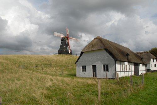 Skovsgaard windmill before the storm