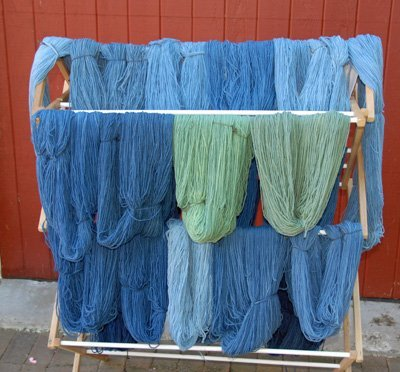 indigo dyed blues and greens