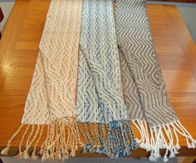 A sampling of handwoven scarves