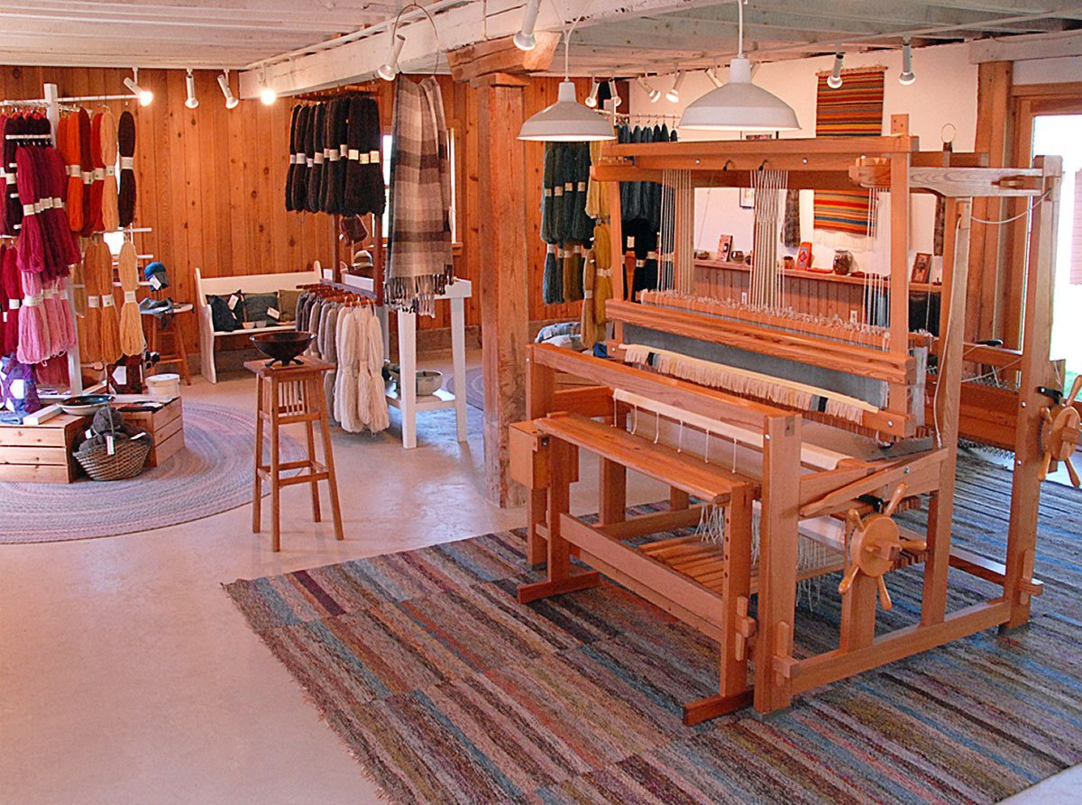 Loom and yarn in Whitefish Bay Farm Gallery