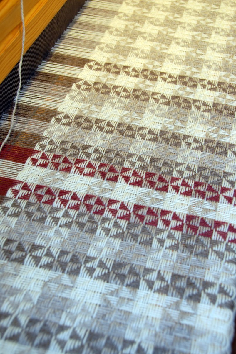 weaving project on the loom