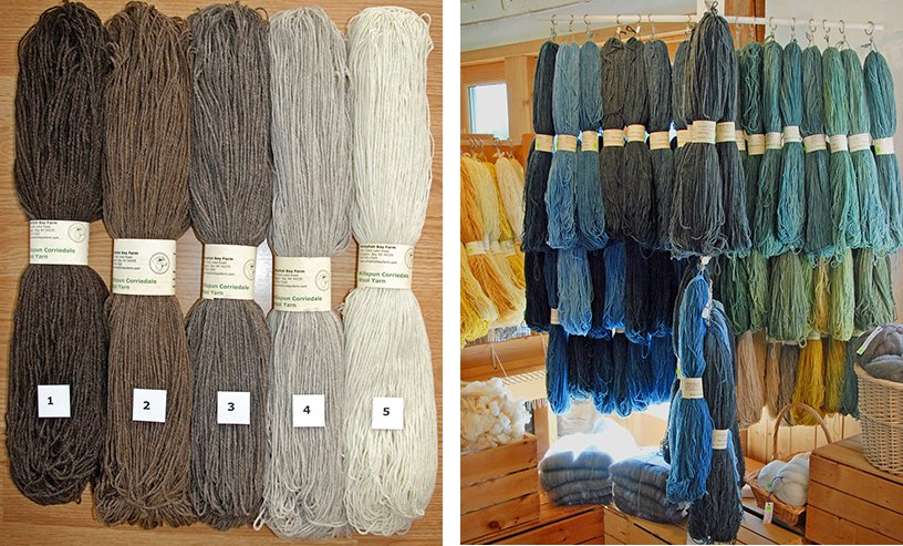 Yarn for sale at Whitefish Bay Farm Gallery