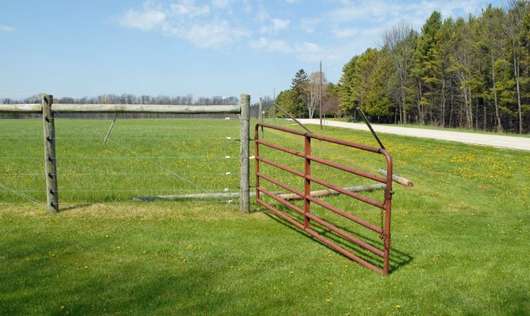 Gate to the original Orchard Fence