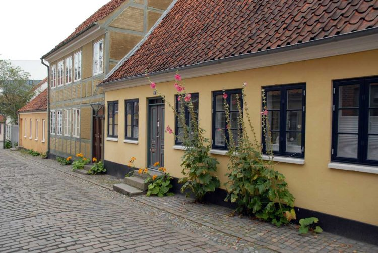 House in an old quarter of Odense