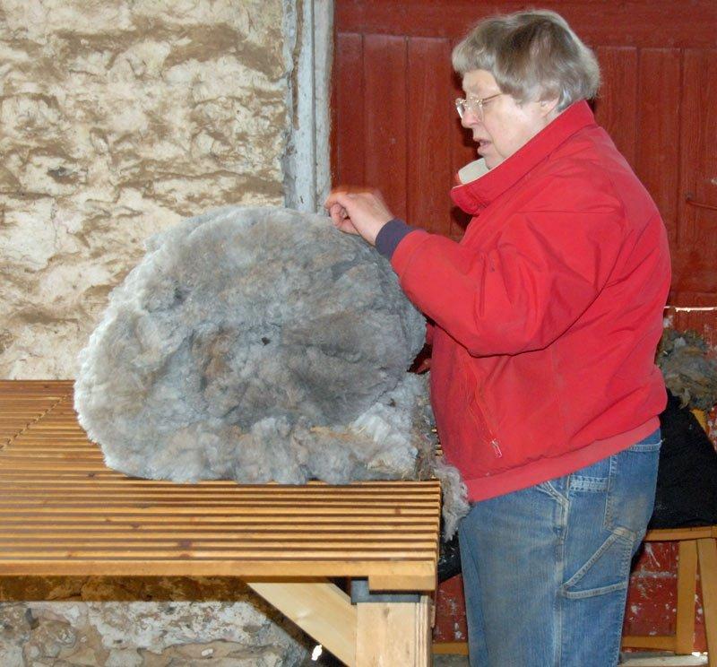 Skirting a fleece
