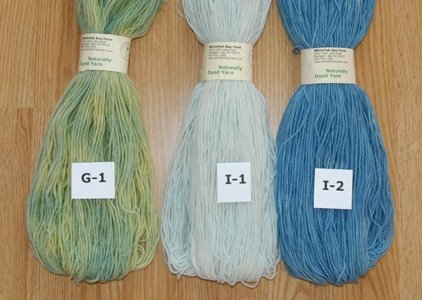 Naturallyb Dyed yarn: Blue and Green