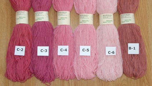 Naturally Dyed Yarn: Red & Pink