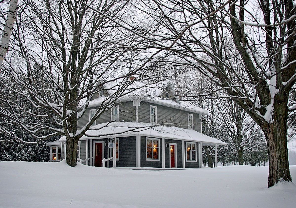 view of B&B in winter