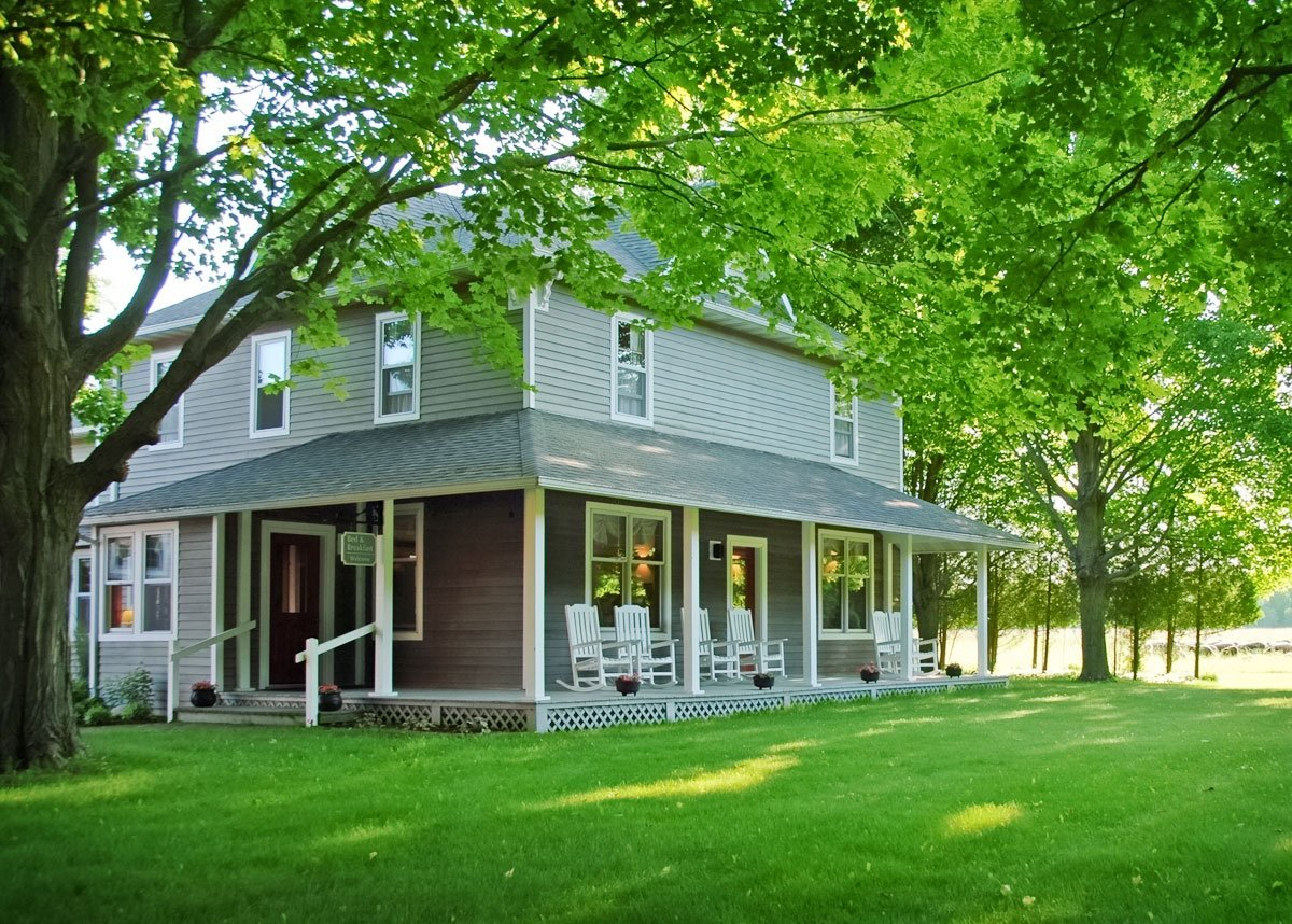 View of Whitefish Bay Farm B&B in summer